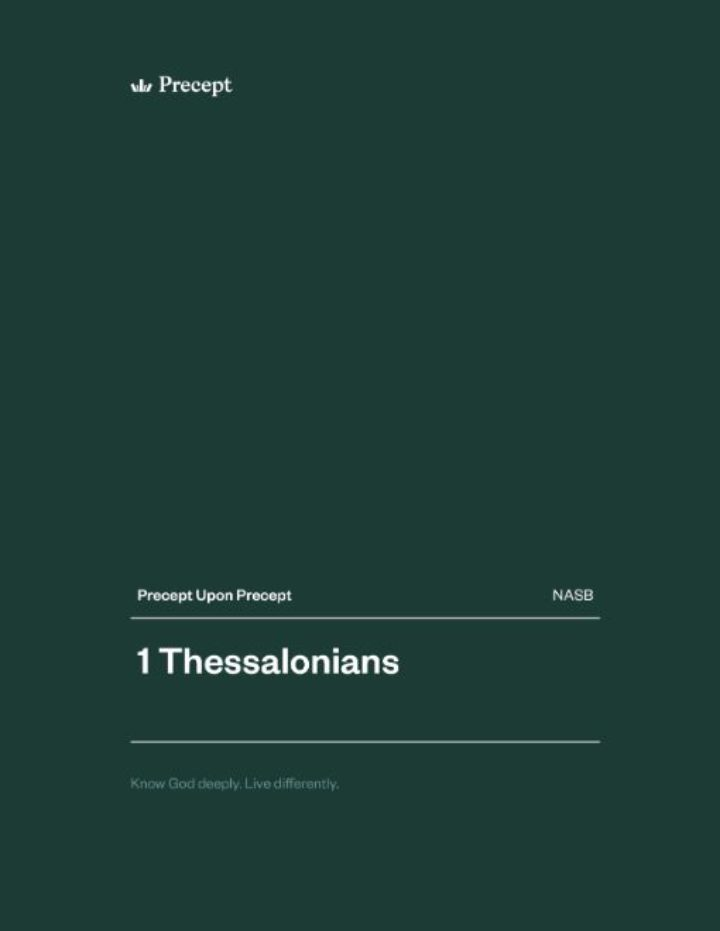 1 Thessalonians Precept Upon Precept