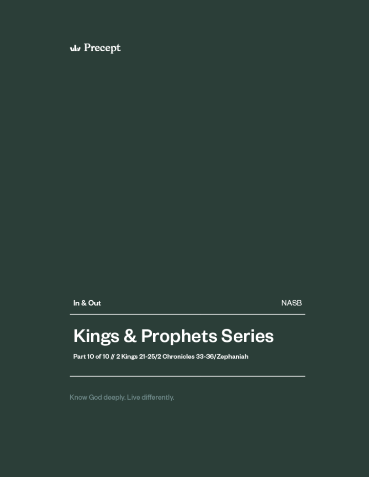 Kings and Prophets (Part 10) In & Out